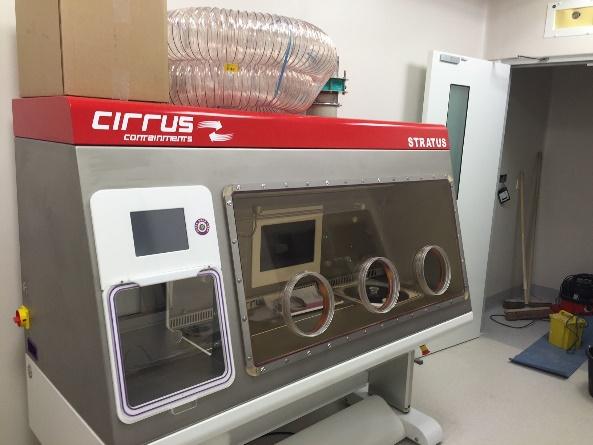 AES Cirrus glove port manufacture