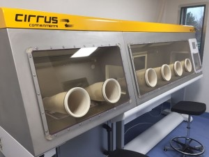 AES Cirrus glove port manufacture
