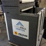 Vacuum formed styrene panels for refrigeration