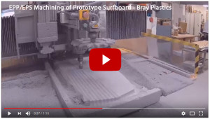 EPP EPS machining of surfboard prototype