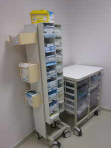 Polypropylene, PVC, Acrylic, HIPs and ABS storage equipment for hospitals